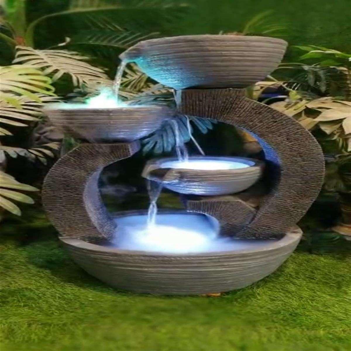 Payali Water Fountain With Light (12*34*20 Inc.)
